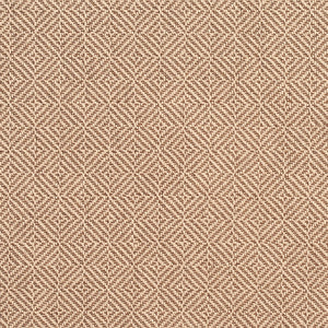 Essentials Crypton Brown Beige Geometric Diamond Upholstery Fabric / Sand