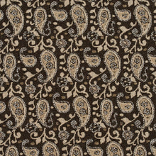 Load image into Gallery viewer, Essentials Brown Beige White Upholstery Fabric / Desert Paisley