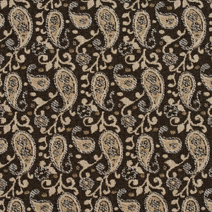 Essentials Brown Beige White Upholstery Fabric / Desert Paisley