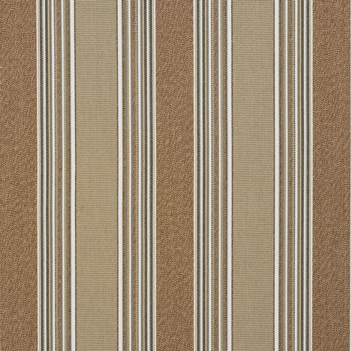 Essentials Outdoor Brown Birch Stripe Upholstery Fabric