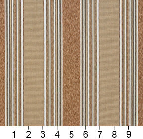 Essentials Outdoor Beige Birch Stripe Upholstery Fabric