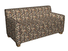 Load image into Gallery viewer, Essentials Chenille Brown Black Sage Beige Ivory Geometric Сircle Upholstery Fabric / Truffle