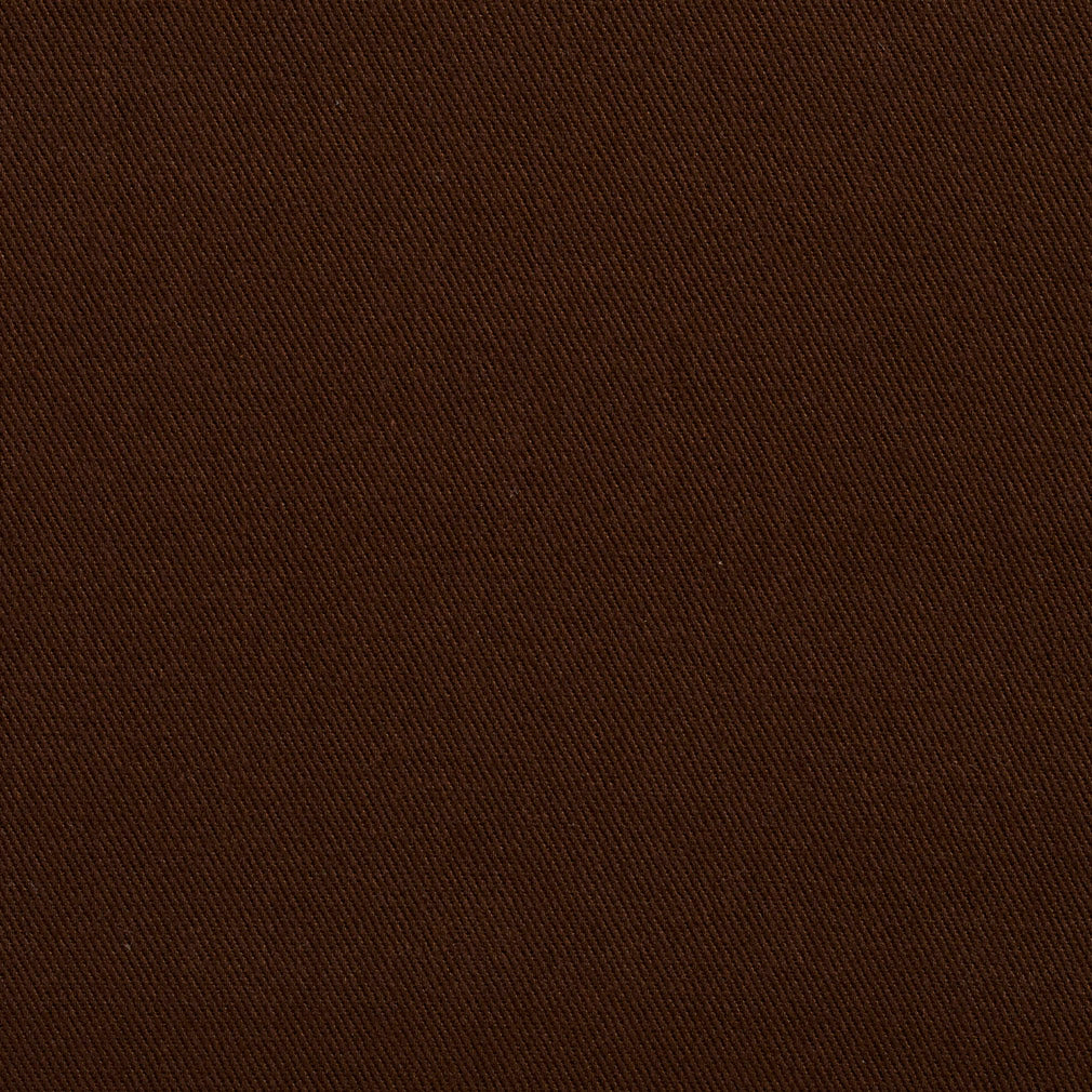 Essentials Cotton Twill Brown Upholstery Fabric / Chocolate