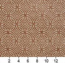 Load image into Gallery viewer, Essentials Chenille Brown Cream Geometric Medallion Upholstery Fabric