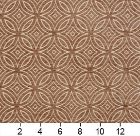 Essentials Chenille Brown Cream Geometric Medallion Upholstery Fabric