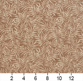 Essentials Chenille Brown Cream Leaf Branches Upholstery Fabric
