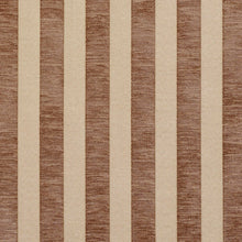 Load image into Gallery viewer, Essentials Chenille Brown Cream Stripe Upholstery Fabric