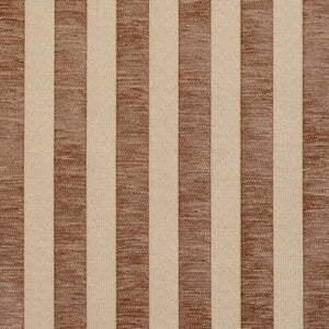 Essentials Chenille Brown Cream Stripe Upholstery Fabric