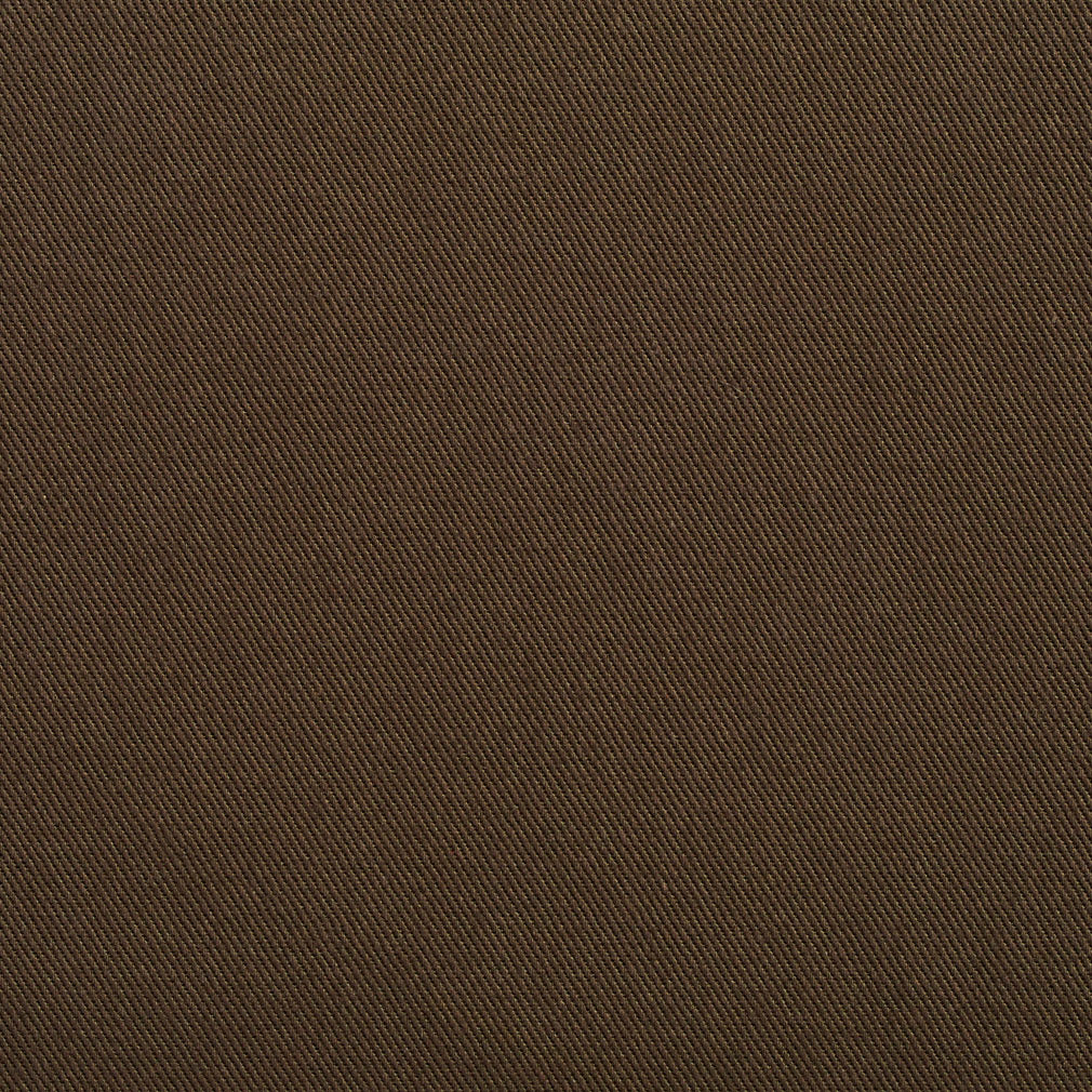 Essentials Cotton Twill Brown Upholstery Fabric / Forest
