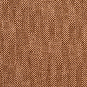 Essentials Crypton Brown Geometric Diamond Upholstery Fabric / Pecan