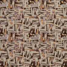 Load image into Gallery viewer, Essentials Brown Gray Mauve Beige Upholstery Fabric / Gold Abstract