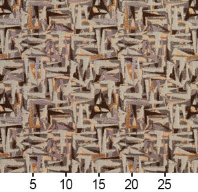 Essentials Brown Gray Mauve Beige Upholstery Fabric / Gold Abstract