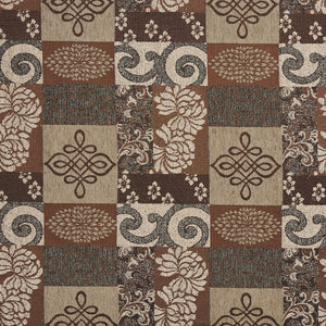 Essentials Chenille Brown Gray Tan Beige Tapestry Kilim Upholstery Fabric / Cobblestone