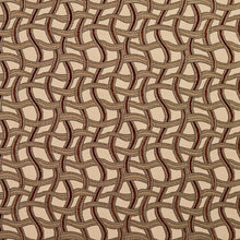 Load image into Gallery viewer, Essentials Brown Gray Tan Beige Wavy Trellis Upholstery Fabric / Spice Maze