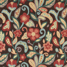 Load image into Gallery viewer, Essentials Cityscapes Brown Red Blue Teal Mustard Floral Upholstery Drapery Fabric