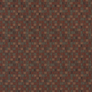 Essentials Brown Sienna Sage Mosaic Upholstery Fabric / Sedona