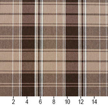 Load image into Gallery viewer, Essentials Brown Tan Beige White Checkered Upholstery Fabric / Desert Plaid