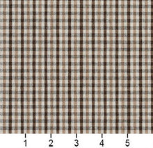 Load image into Gallery viewer, Essentials Brown Tan Beige White Plaid Upholstery Fabric / Desert Check