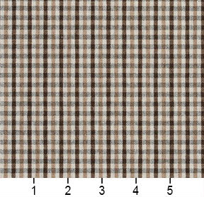 Essentials Brown Tan Beige White Plaid Upholstery Fabric / Desert Check