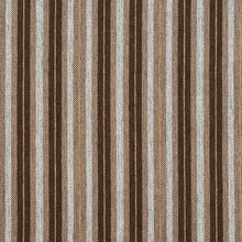 Load image into Gallery viewer, Essentials Brown Tan Cream White Upholstery Fabric / Desert Stripe