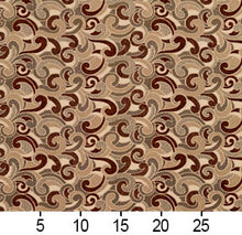 Load image into Gallery viewer, Essentials Brown Tan Gray Beige Ivory Paisley Upholstery Fabric / Spice Flutte