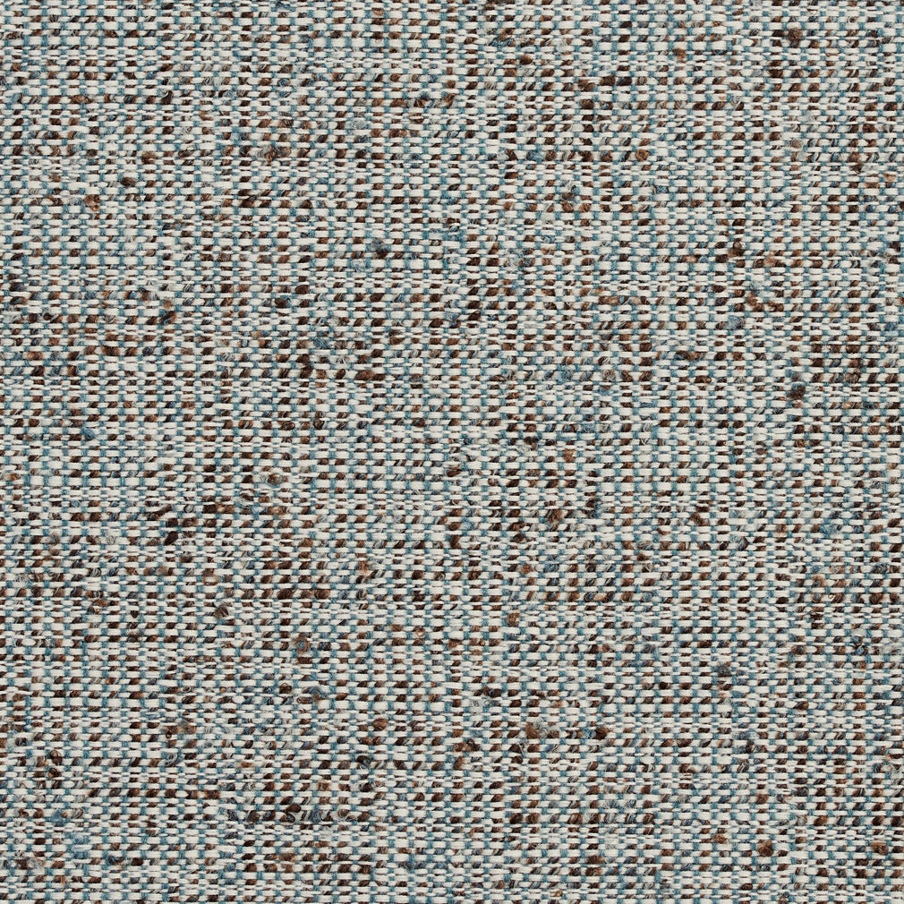 Essentials Crypton Brown Teal White Upholstery Fabric / Gulf