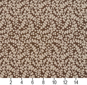 Essentials Brown White Upholstery Fabric / Desert Vine