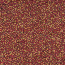 Load image into Gallery viewer, Essentials Heavy Duty Mid Century Modern Scotchgard Upholstery Fabric Burgundy Gold Paisley / Pomegranate