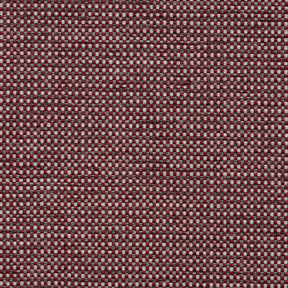 Essentials Heavy Duty Mid Century Modern Scotchgard Burgundy Gray Upholstery Fabric / Red Slate