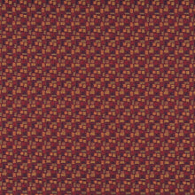 Load image into Gallery viewer, Essentials Mid Century Modern Geometric Burgundy Navy Coral Upholstery Fabric / Merlot