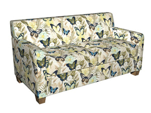 Essentials Drapery Upholstery Butterfly Fabric / Aqua Yellow Green