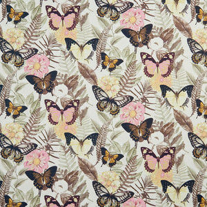 Essentials Drapery Upholstery Butterfly Fabric / Pink Yellow Brown