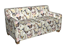 Load image into Gallery viewer, Essentials Drapery Upholstery Butterfly Fabric / Pink Yellow Brown