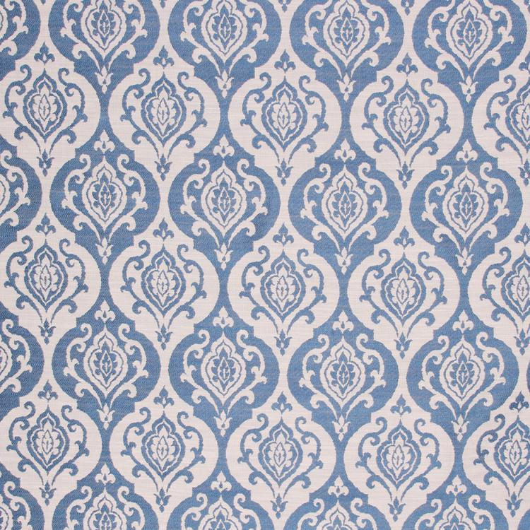 Medallion Upholstery Drapery Fabric Blue Navy / Chambray RMIL1