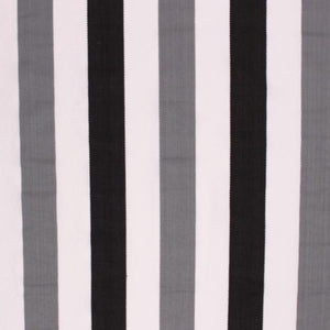 Nautical Cotton Stripe Upholstery Drapery Black Gray White Fabric / Charcoal RMIL1