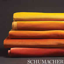 Load image into Gallery viewer, SCHUMACHER GAINSBOROUGH VELVET FABRIC / CHINESE ORANGE