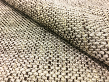 Load image into Gallery viewer, Cream Ivory Brown Woven Textured Mid Century Modern Water Resistant Upholstery Fabric