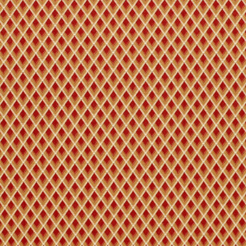 SCHUMACHER HAMMERICK DIAMOND FABRIC / CLAY