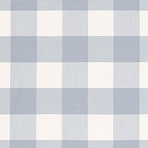 SCHUMACHER ANTIGUA PLAID FABRIC / CORNFLOWER