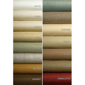 SCHUMACHER MIDDLETON LINEN FABRIC / CASHEW