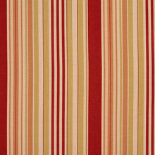 Load image into Gallery viewer, Essentials Carmine Coral Salmon Beige Stripe Upholstery Drapery Fabric