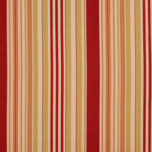 Essentials Carmine Coral Salmon Beige Stripe Upholstery Drapery Fabric