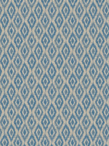 2 Colorways Woven Geometric Upholstery Fabric Blue Beige