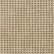 Load image into Gallery viewer, Essentials Linen Cotton Upholstery Checkered Fabric / Brown Beige