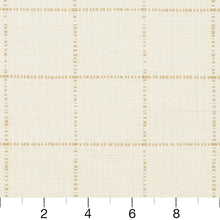 Load image into Gallery viewer, Essentials Linen Cotton Upholstery Checkered Fabric / White Beige
