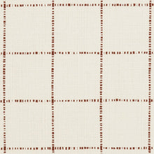 Load image into Gallery viewer, Essentials Linen Cotton Upholstery Checkered Fabric / White Brown