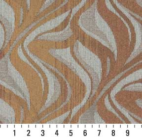 Essentials Chenille Dark Salmon Beige Gray Abstract Upholstery Fabric / Mirage