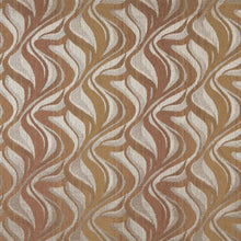 Load image into Gallery viewer, Essentials Chenille Dark Salmon Beige Light Gray Abstract Upholstery Fabric / Desert