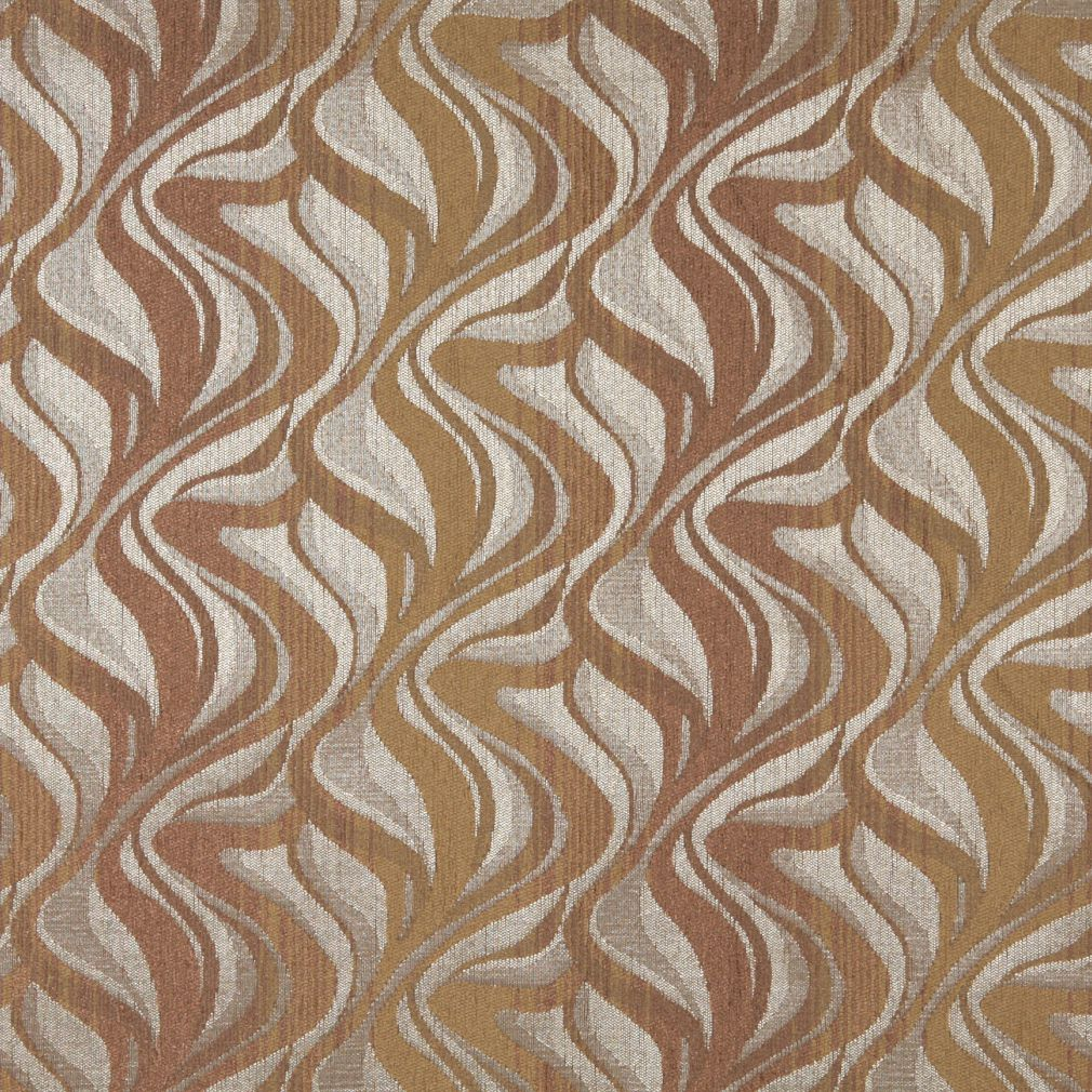 Essentials Chenille Dark Salmon Beige Light Gray Abstract Upholstery Fabric / Desert
