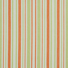 Load image into Gallery viewer, Essentials Outdoor Stain Resistant Upholstery Drapery Fabric Coral Lime / Catalina Stripe